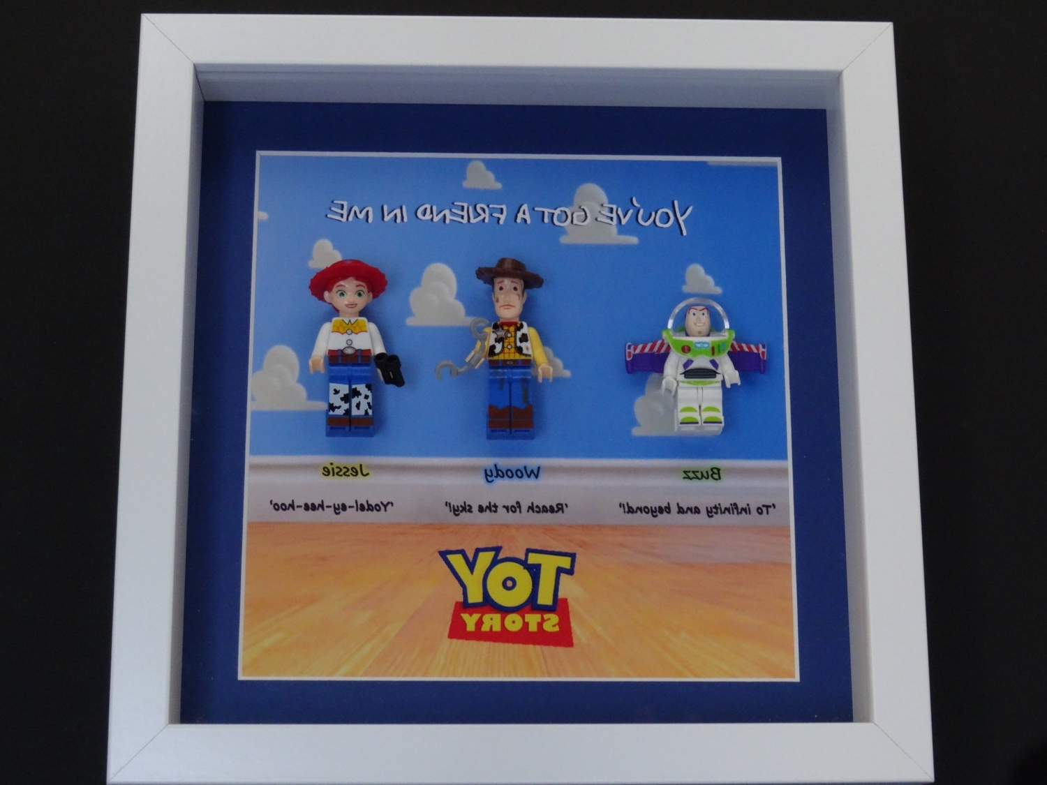 Most Popular Toy Story Minifigure Box Frame, Wall Art – Lego Inspired For Toy Story Wall Art (View 9 of 15)