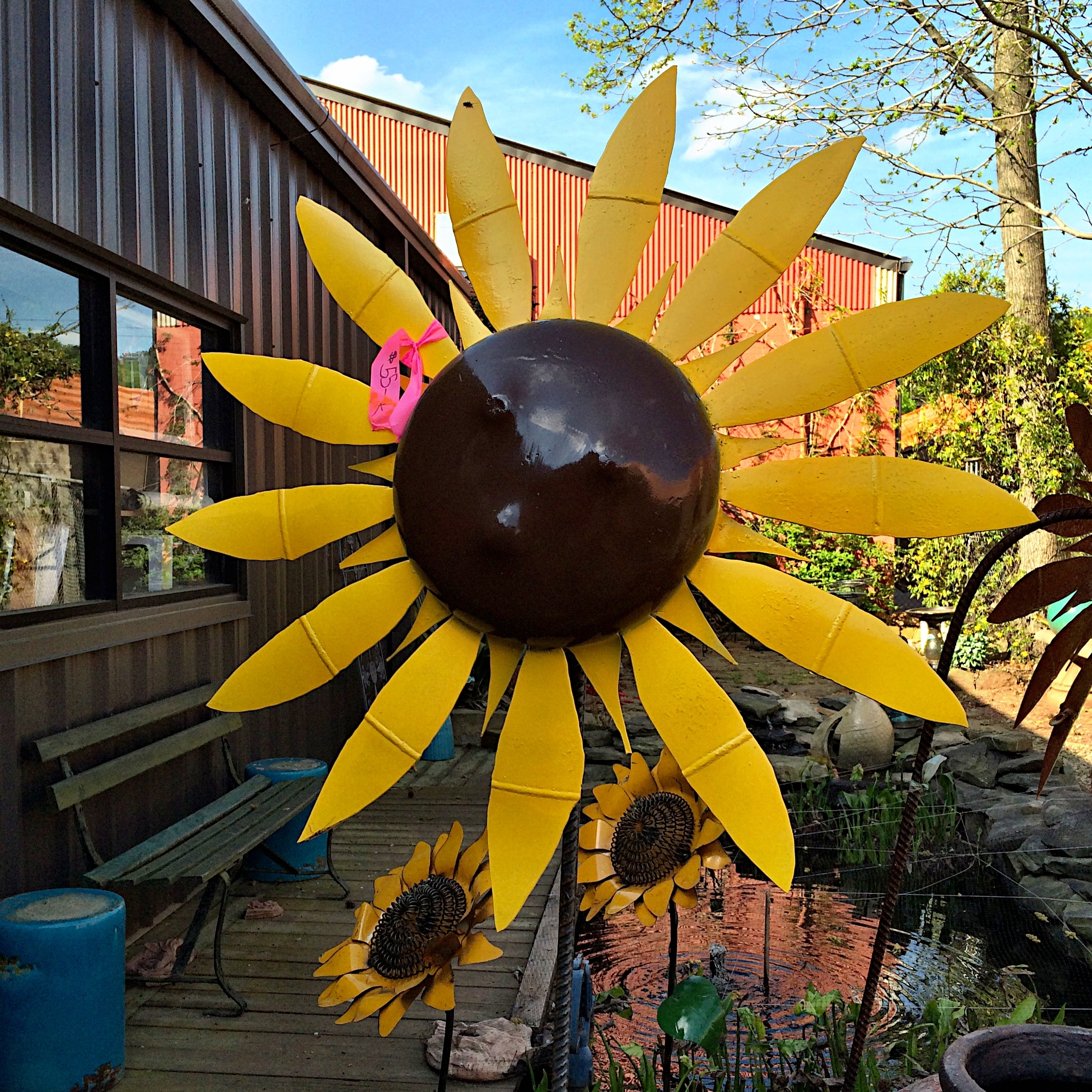 Most Popular Upcycled Metal Sunflower Yard Art – Kudzu Antiques In Metal Sunflower Yard Art (View 8 of 15)