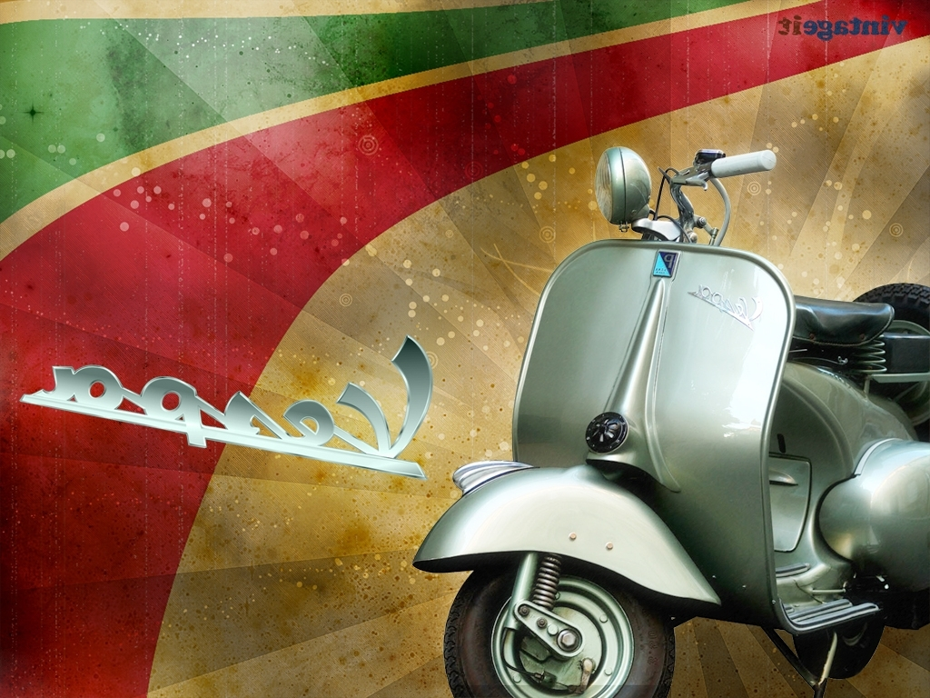 Most Popular Vespa 3D Wall Art Intended For Vespa Vintage Wallpapers Free Desktop Hd Ipad Iphone (View 5 of 15)