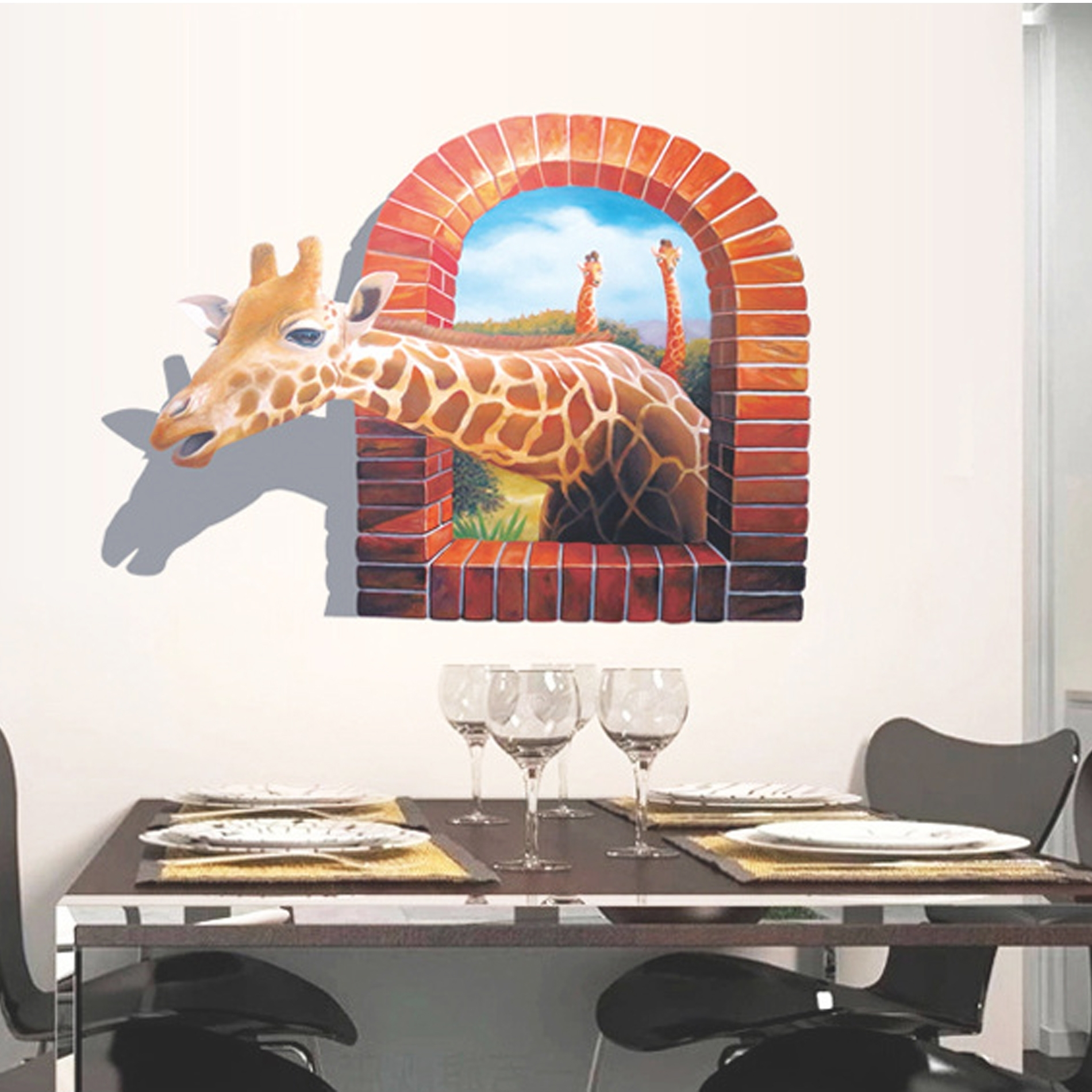 Most Popular Vinyl 3d Wall Art Inside 3d Wall Stickers For Bedrooms (photos And Video (View 7 of 15)