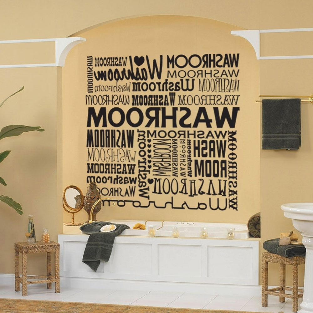 Most Popular Wall Art Ideas Design : Various Concept Art For Bathroom Wall For Art For Bathrooms Walls (View 10 of 15)