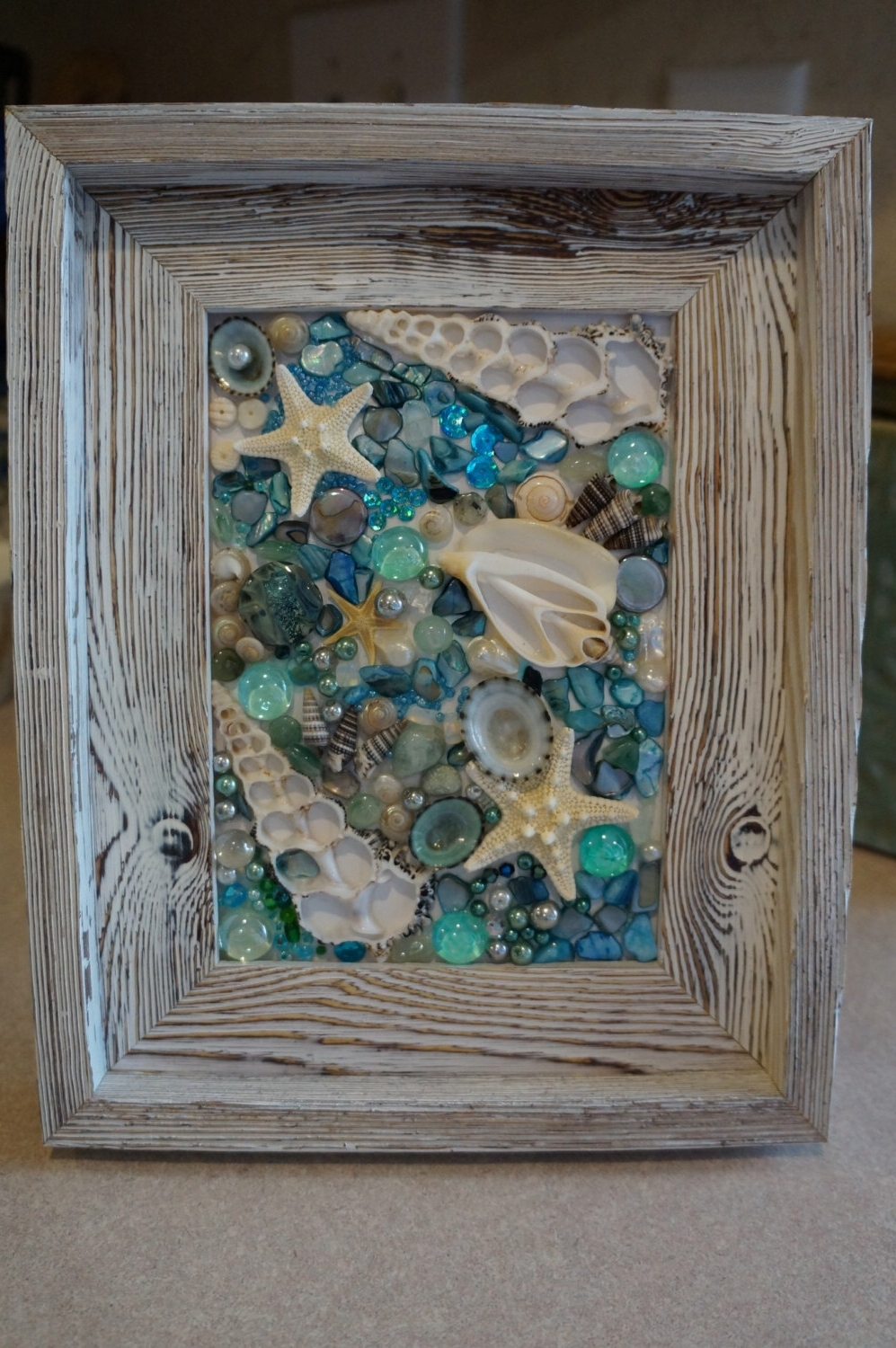 Most Popular Wall Art With Seashells Inside Shell Art Seashell Art Seashell Collage Art Collage Picture (View 11 of 15)
