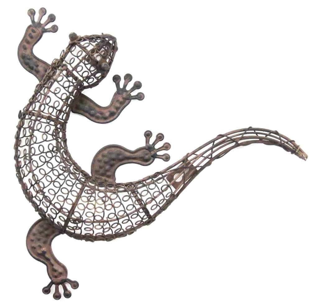 Most Popular Wall Arts ~ Beautiful Gecko Lizards Southwest Wall Art Decoration Inside Gecko Outdoor Wall Art (View 10 of 15)