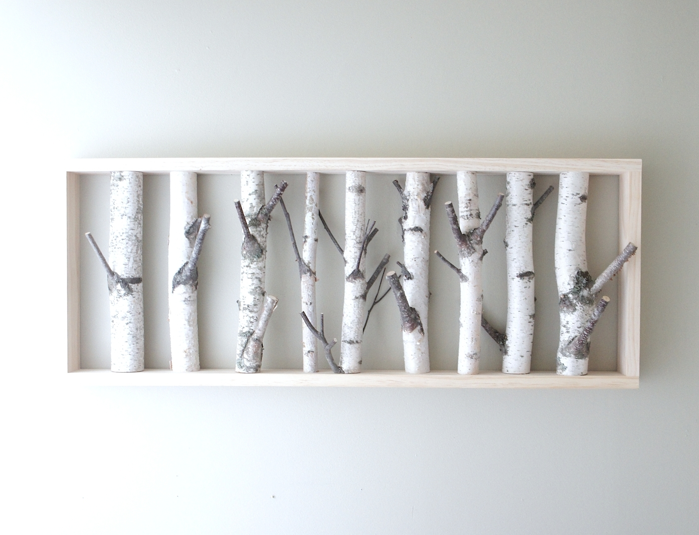 Most Popular White Birch Forest Wall Art/coat Hanger 36 X  (View 5 of 15)