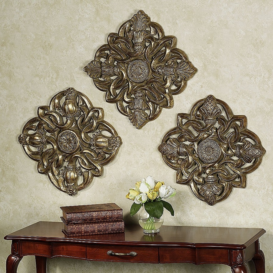 Most Popular White Medallion Wall Art Pertaining To White Medallion Wall Art Lovely Medallion Wall Decor Set 3 • Walls (View 6 of 15)