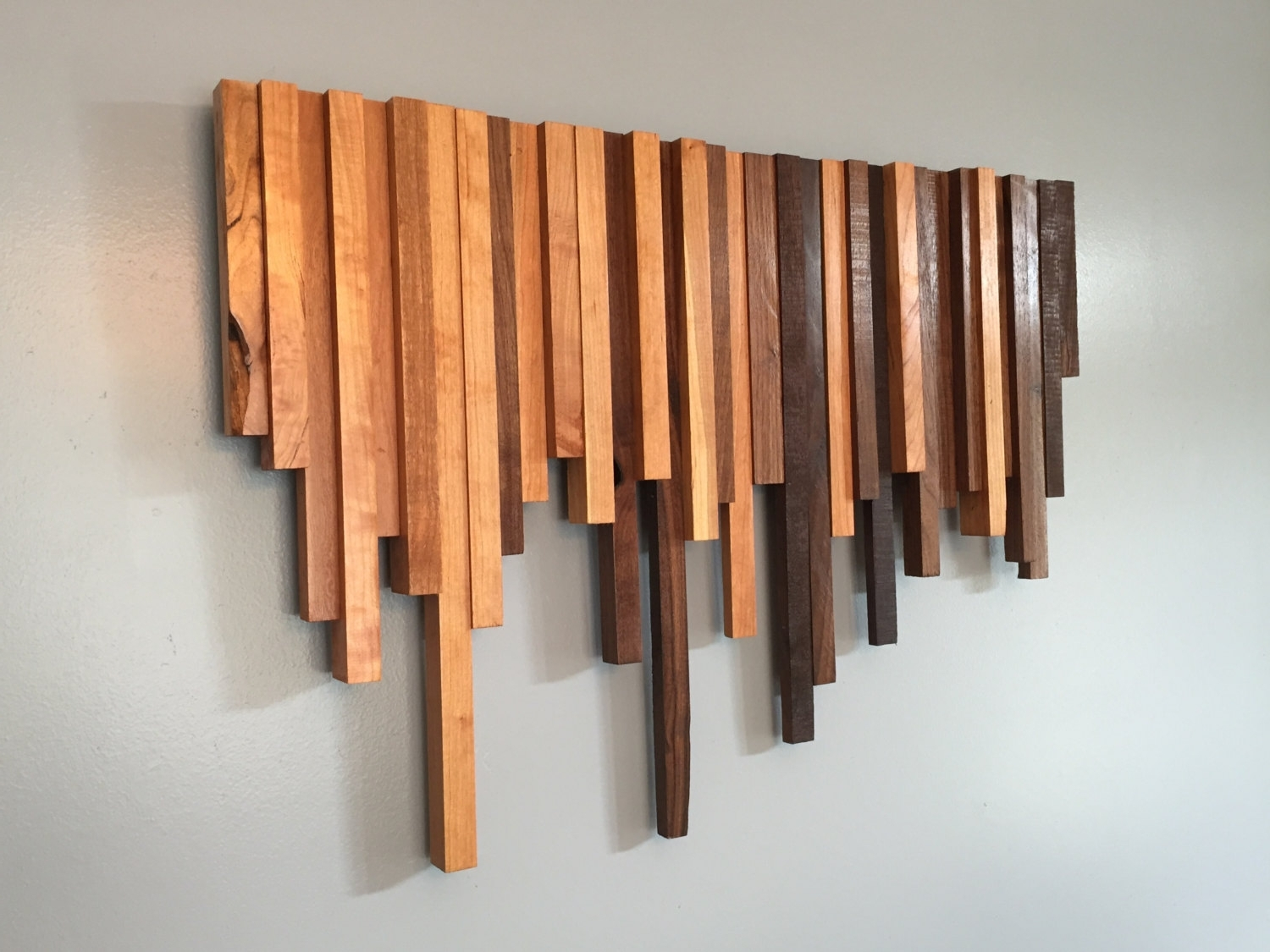 Most Popular Wood Wall Art Cherry And Walnut • Recous In Wood Wall Art (View 2 of 15)