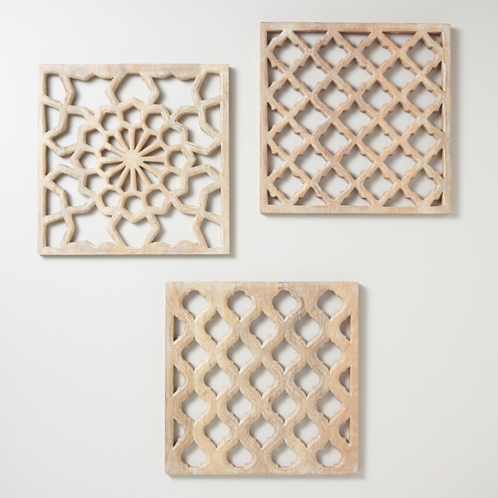 Most Popular Wooden Wall Art Panels Throughout Hung In An Entryway, Living Room Or Bedroom, Our Set Of Three (View 4 of 15)
