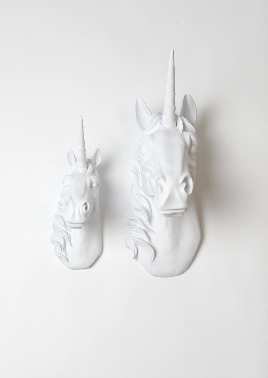 Most Recent 3D Unicorn Wall Art With Regard To Unicorn Head Wall Decor Set (View 8 of 15)