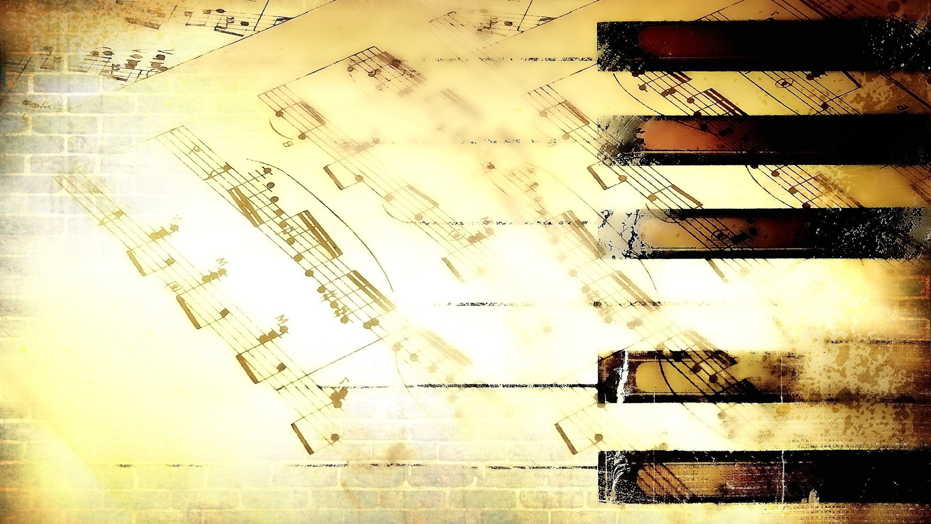 Most Recent Abstract Musical Notes Piano Jazz Wall Artwork Intended For Wallpapers Music Note Notes 1920x (View 14 of 15)