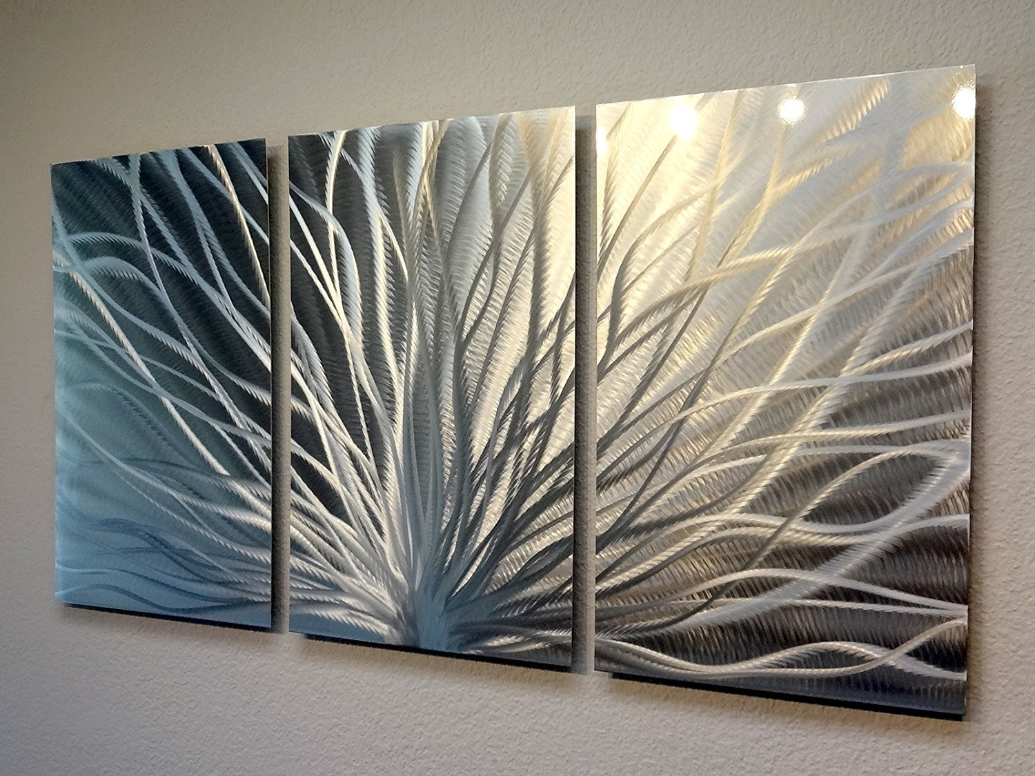 Most Recent Abstract Wall Art In Amazon: Metal Wall Art, Modern Home Decor, Abstract Wall (View 10 of 15)