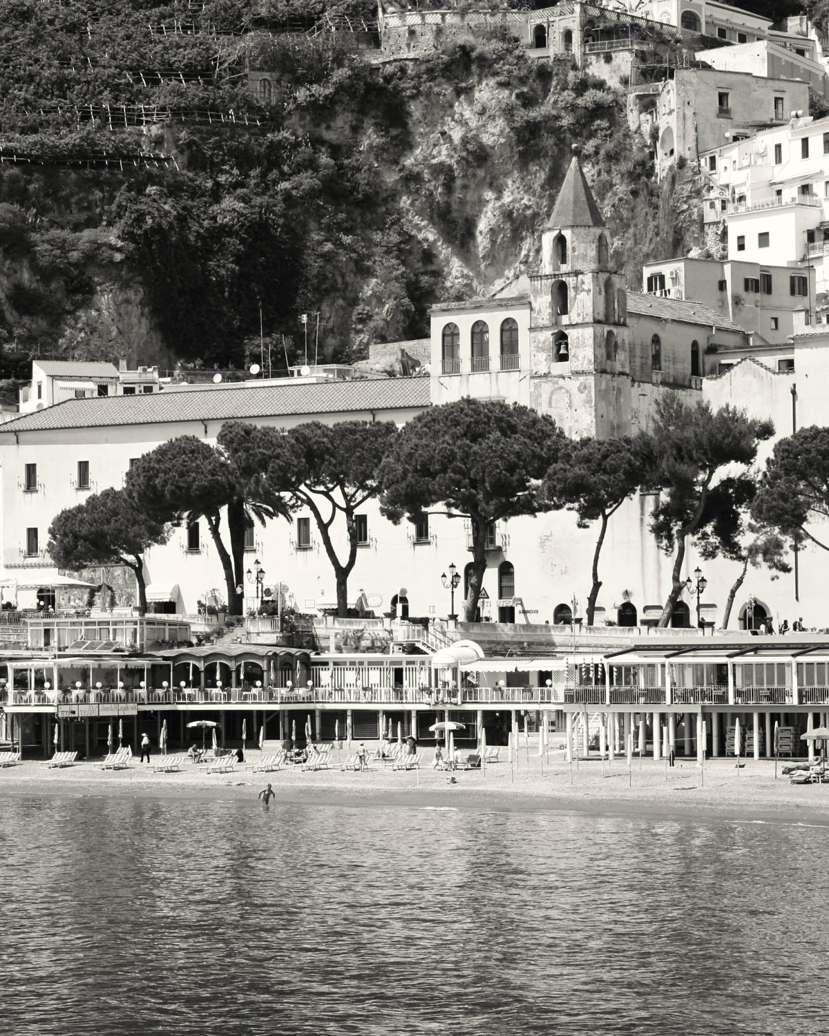 Most Recent Amalfi Photography – Black And White Italy Photograph – Amalfi Intended For Black And White Italian Wall Art (View 9 of 15)