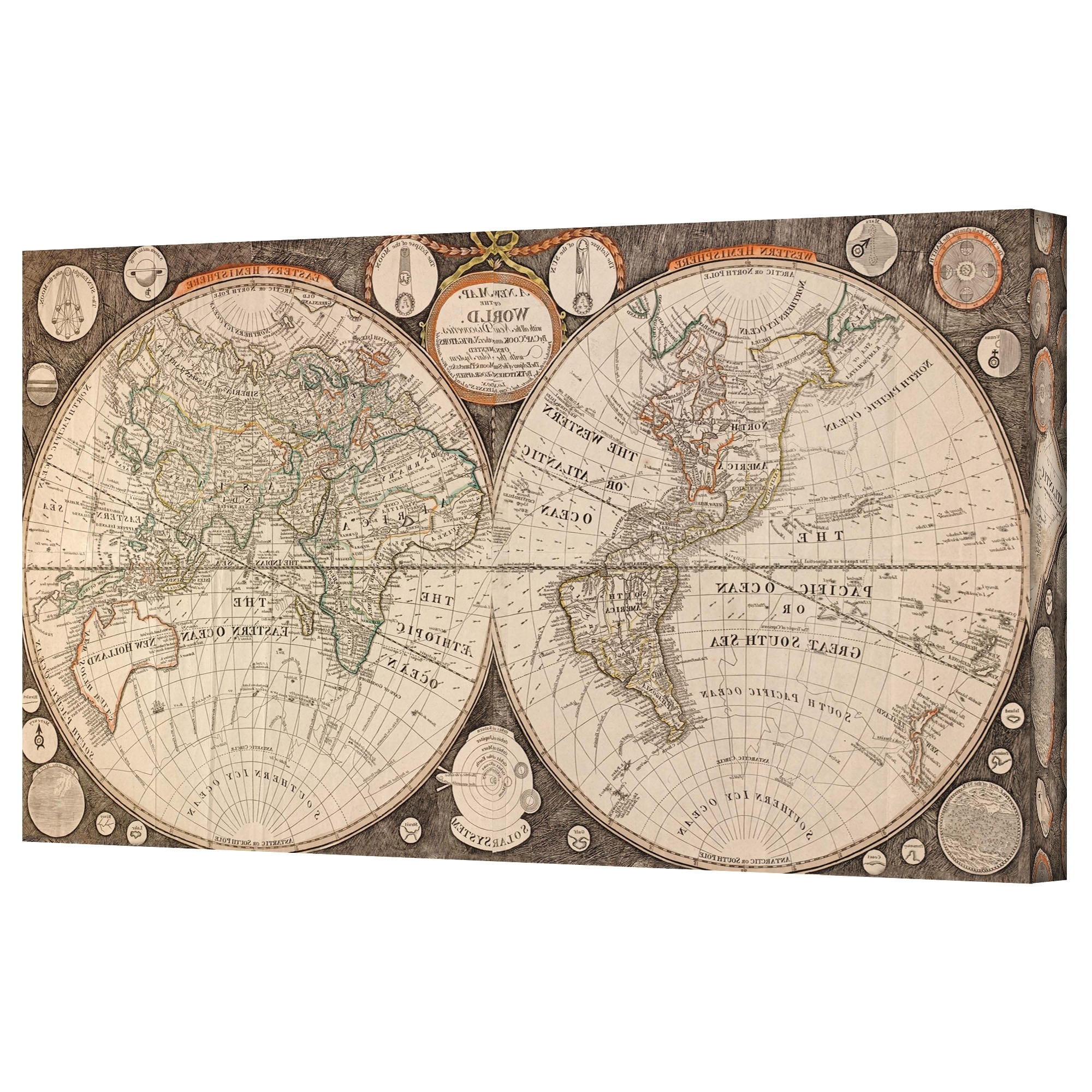 Most Recent Antique Map Wall Art Pertaining To Wall Art Design: Vintage Map Wall Art Amazing Design Collection (View 4 of 15)