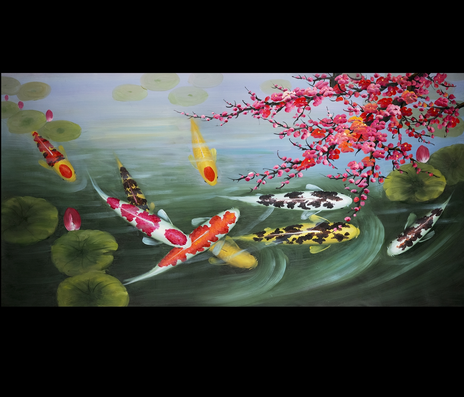 Most Recent Art Painting Stretched Canvas Print Koi Fish Wall Art With Regard To Abstract Fish Wall Art (View 13 of 15)