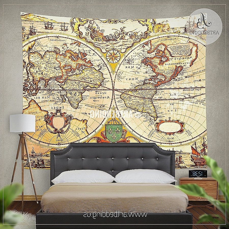 Most Recent Art Prints To Hang On Your Wall Awesome Antique Map Of The World Regarding Art Prints To Hang On Your Wall (View 3 of 15)