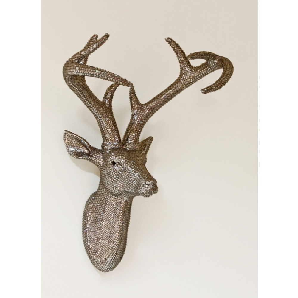 Most Recent Arthouse Star Studded Stag Head Diamante Deer Mountable Wall Art Throughout Stags Head Wall Art (View 3 of 15)