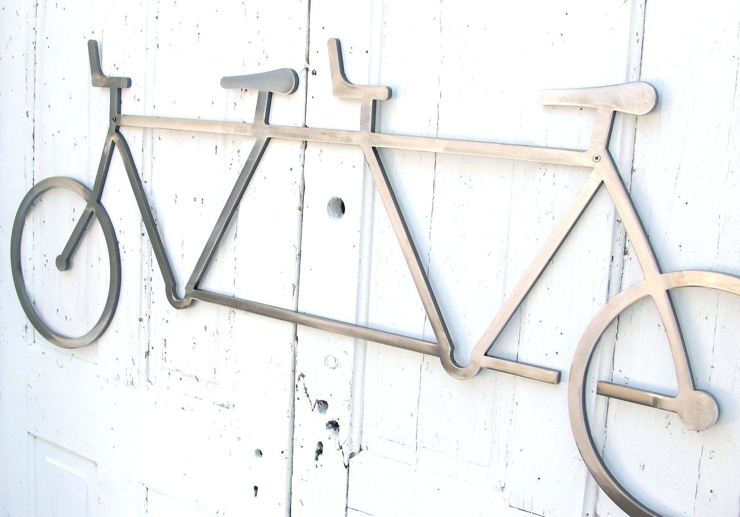 Most Recent Bicycle Metal Wall Art Inside Bike Art Pottery Barn Artwork Wall Hanging Tandem Bicycle Cool (View 12 of 15)