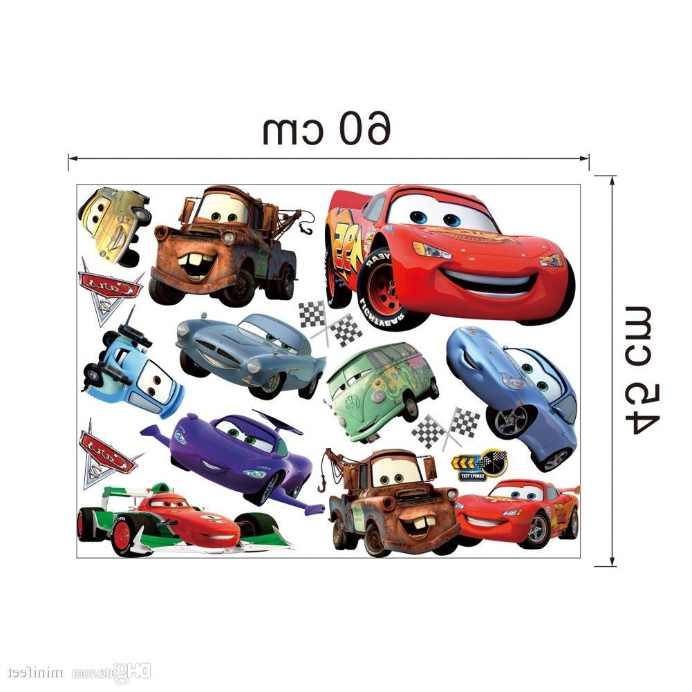 Most Recent Cars 3D Wall Art With Regard To Mixed Order Cartoon Cars 3D Wall Stickers For Nursery Kid's Room (View 5 of 15)