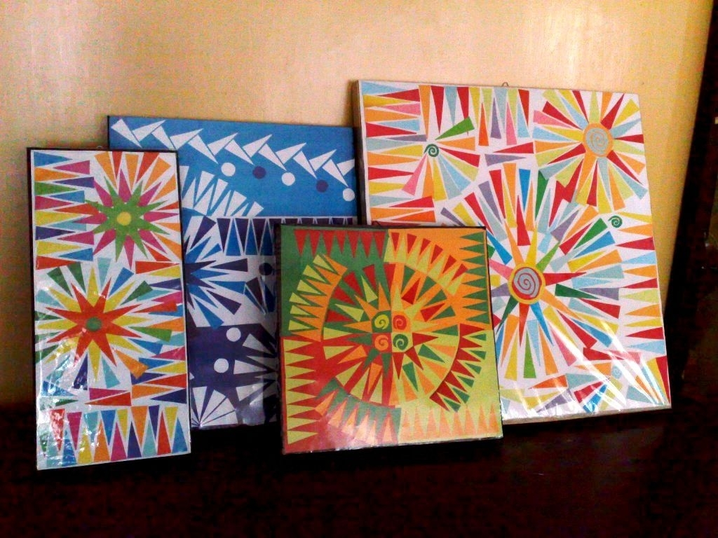 Most Recent Diy Geometric Wall Art: 6 Steps (With Pictures) Pertaining To Cheap Abstract Wall Art (View 9 of 15)