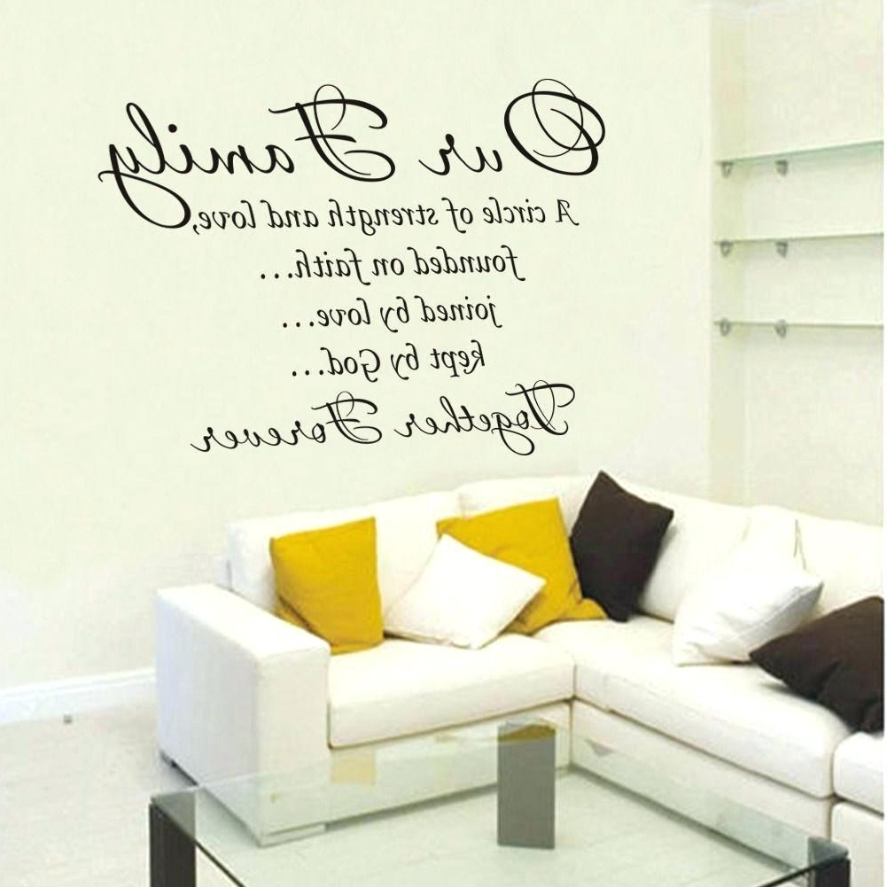 Most Recent Family Sayings Wall Art Pertaining To Wall Arts ~ Wall Word Art Decals Canada Wall Art Decals Quotes For (View 9 of 15)
