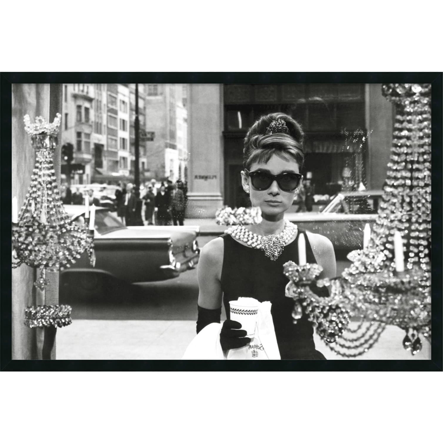 Most Recent Framed Art Print Audrey Hepburn Breakfast At Tiffany's (Window) 38 With Glamorous Audrey Hepburn Wall Art (View 13 of 15)