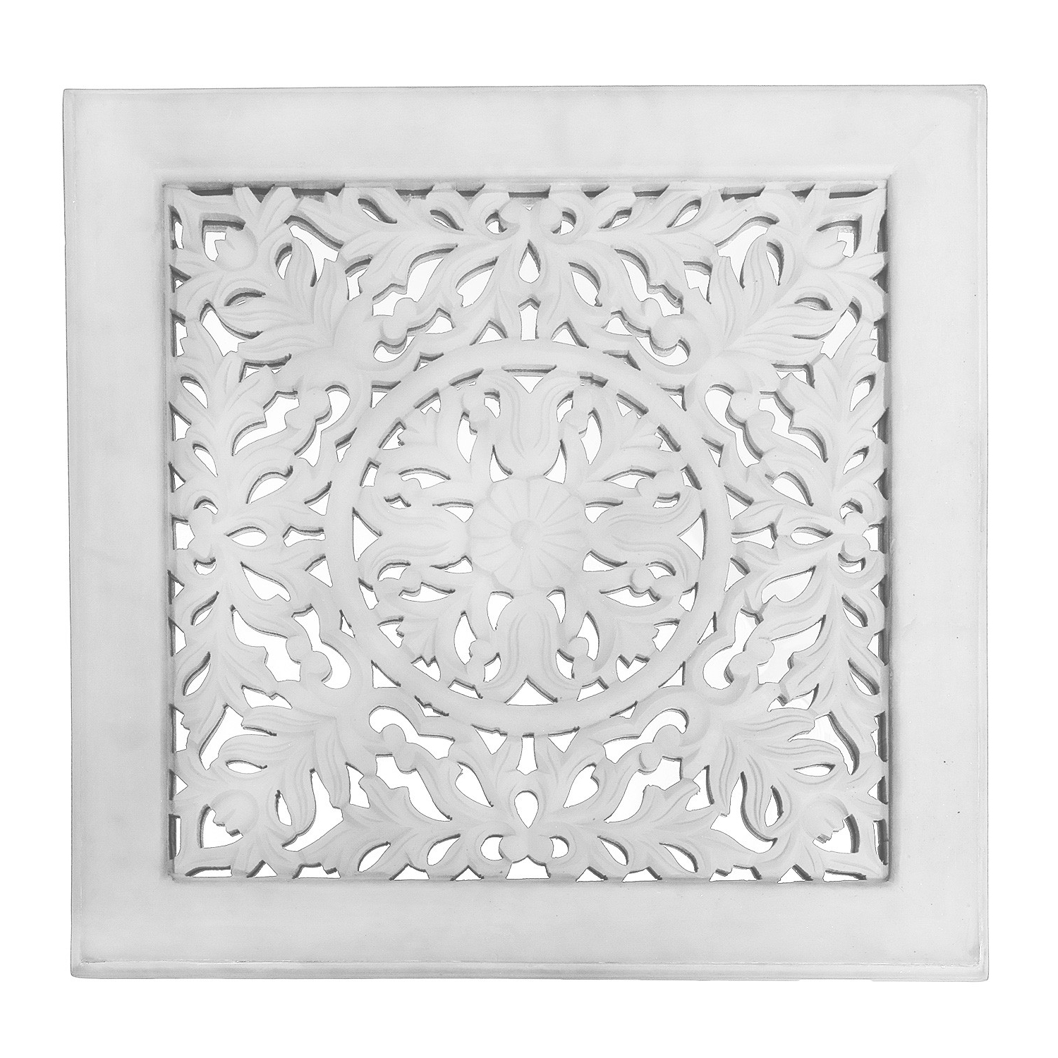 Most Recent Fretwork Wall Art For Fretwork Wall Art: White (Set Of 3) (View 10 of 15)