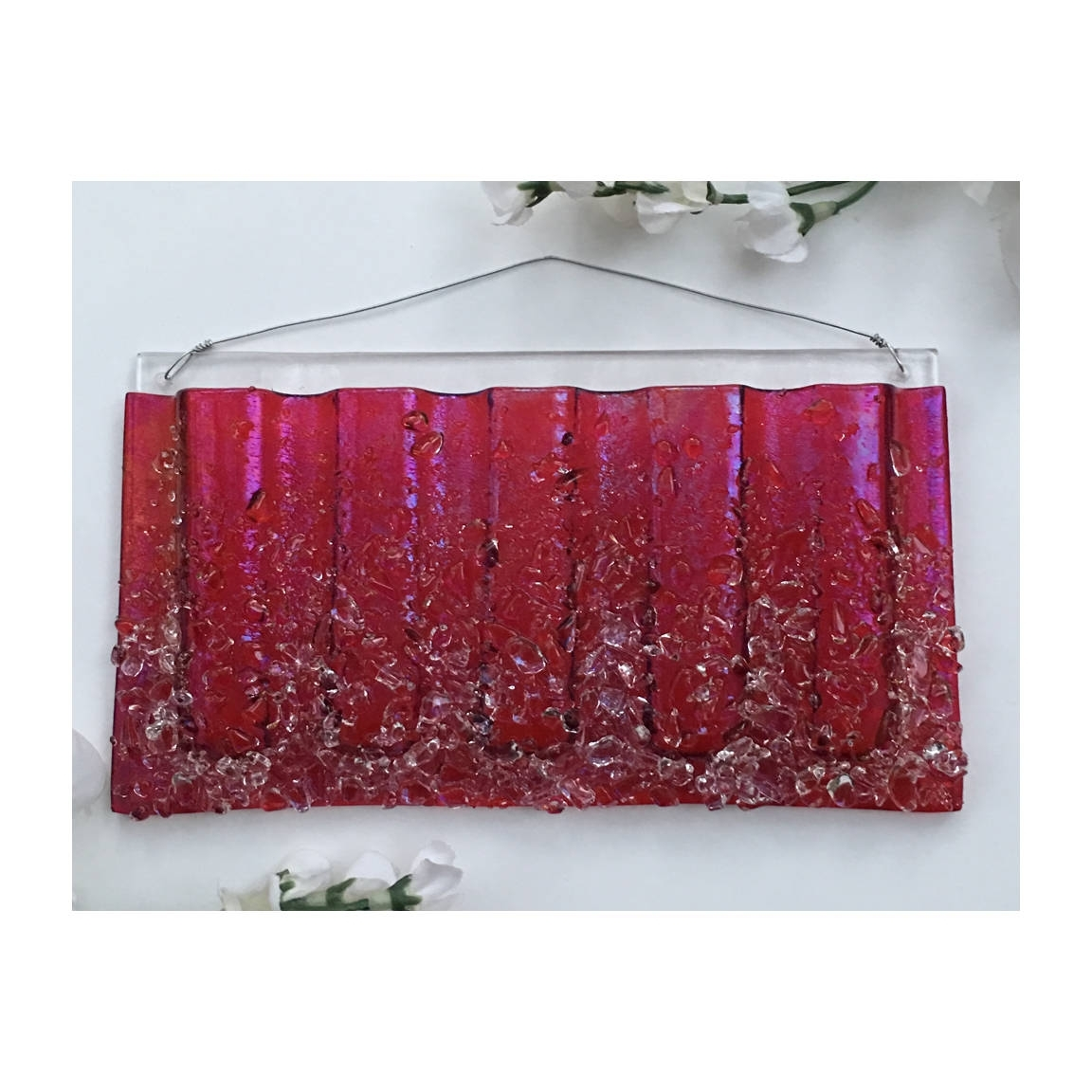 Most Recent Fused Glass Wall Art For Sale Throughout Large Horizontal. Wall Art, Fused Glass, Wall Vase, Glass Pocket (View 13 of 15)