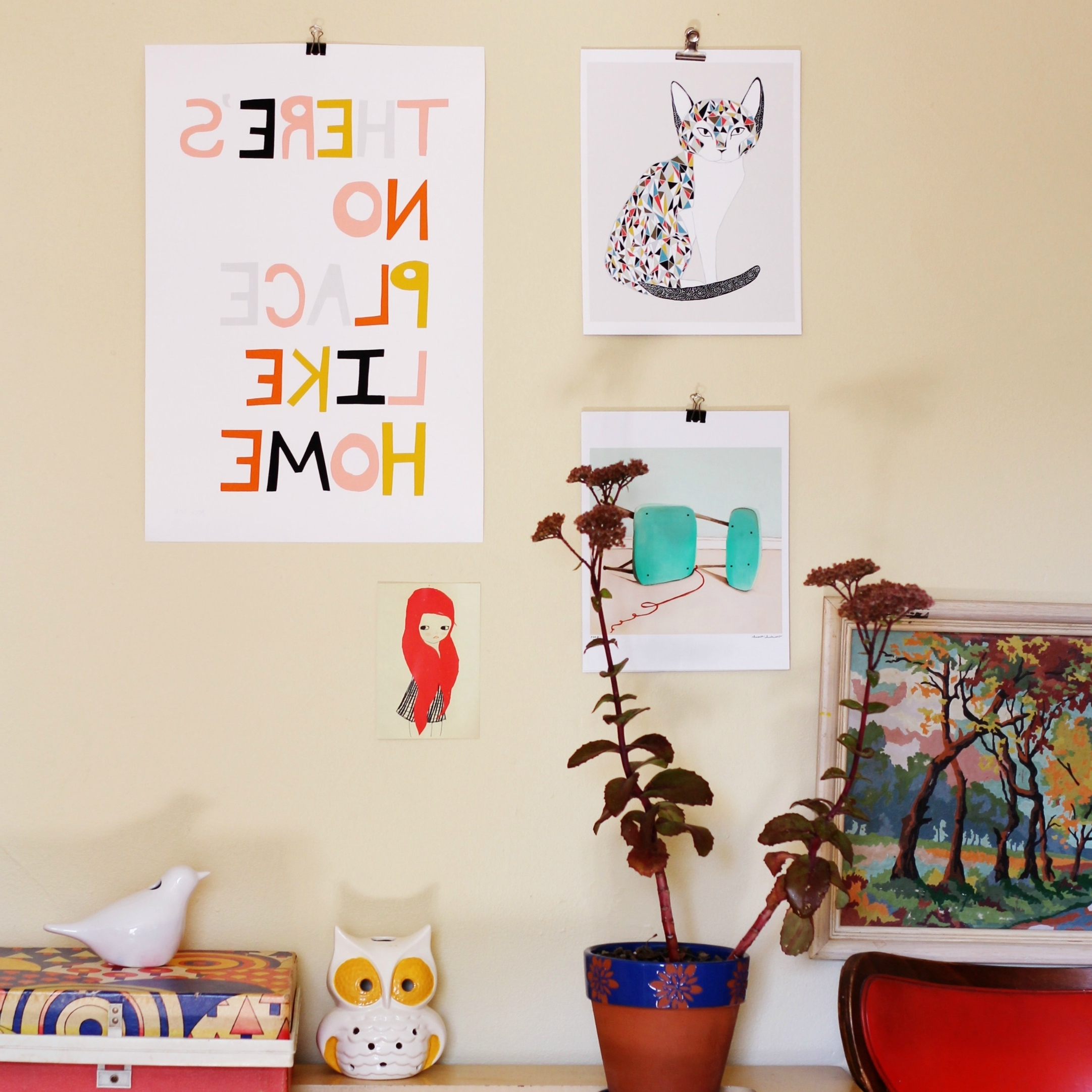 Most Recent Hang Your Art Prints With Binder Clips #diy Those Sticky Command Intended For Art Prints To Hang On Your Wall (View 2 of 15)
