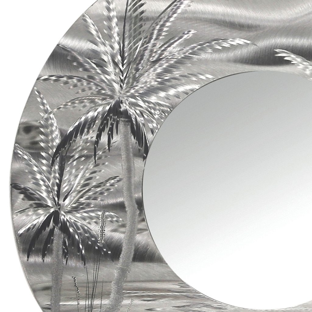 Most Recent Homey Design Metal Palm Tree Wall Art With Mirror 106 Modern Inside Palm Tree Metal Wall Art (View 4 of 15)