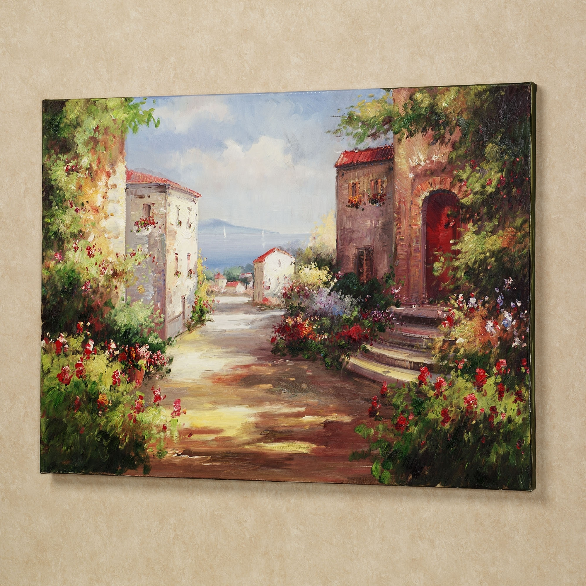 Most Recent Italian Wall Art Within Tuscan Summer Handpainted Canvas Art (View 12 of 15)