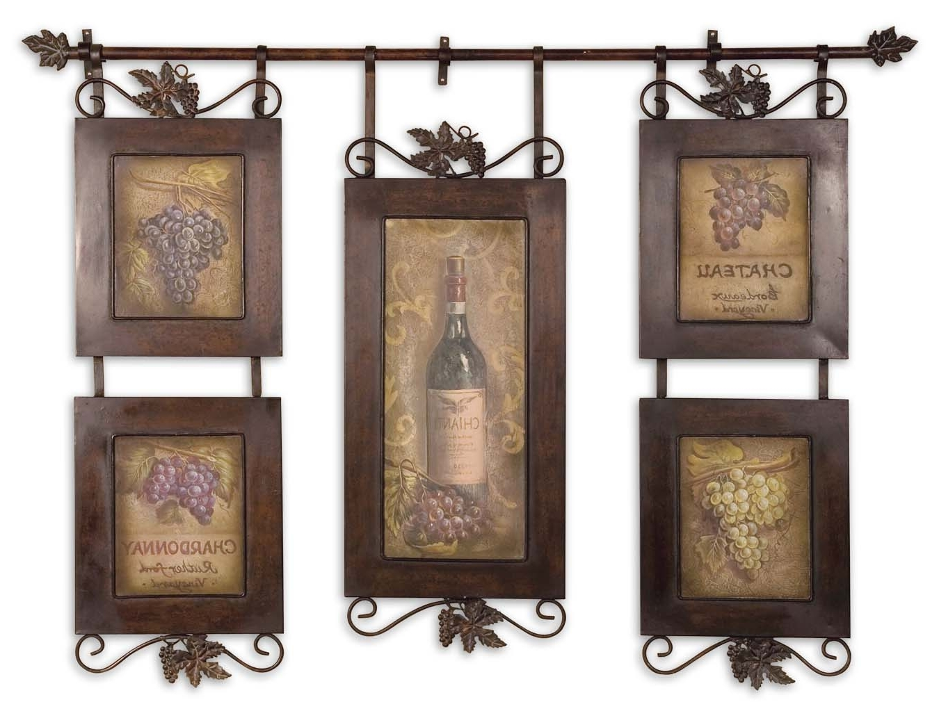 Most Recent Italian Wine Wall Art In Uttermost Hanging Wine Framed Art (View 8 of 15)