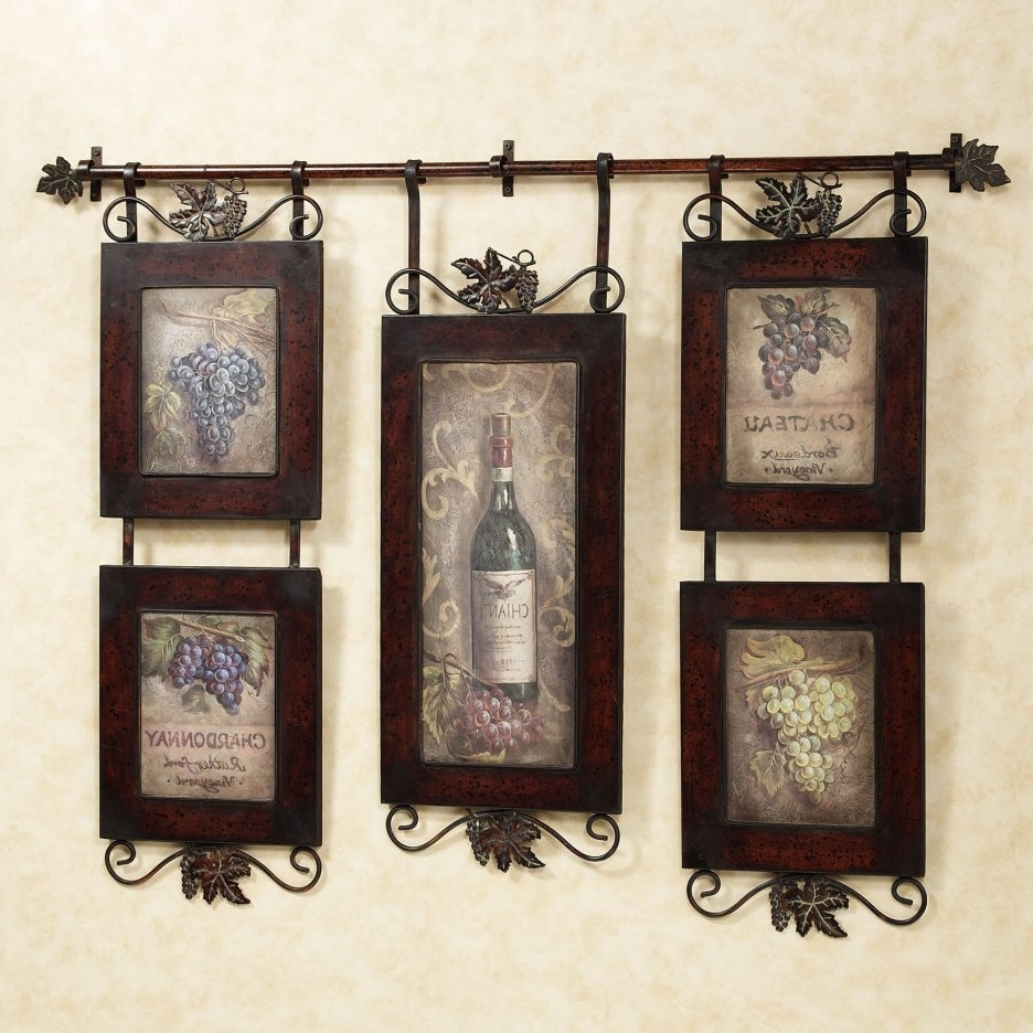 Most Recent Kitchen : Awesome Rustic Country Kitchen Wall Decor With Brown Pertaining To Brown Framed Wall Art (View 8 of 15)