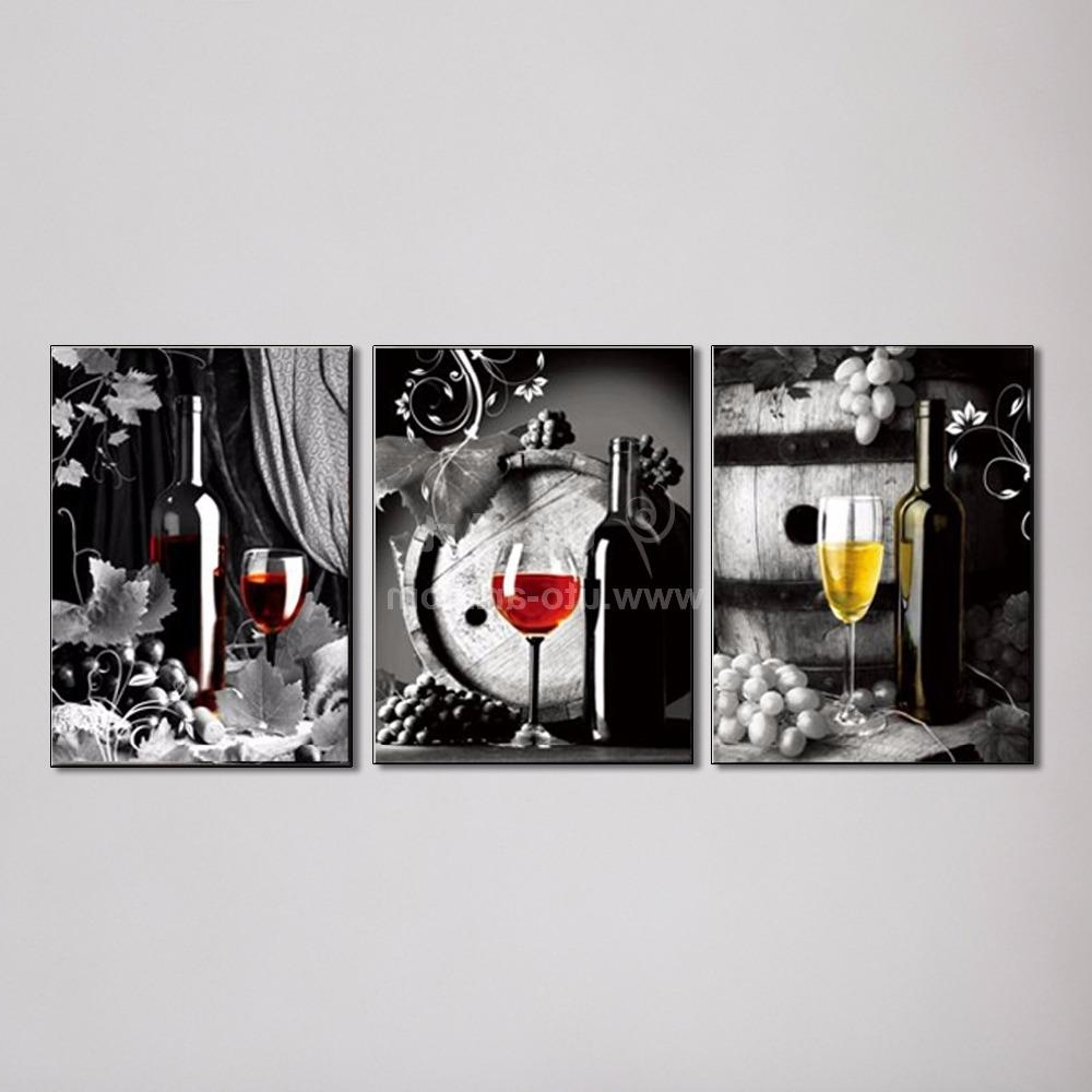 Most Recent Large Canvas Art Cheap Wall Art Picture Of Grape Glasses Modern Inside Cheap Wall Canvas Art (View 10 of 15)