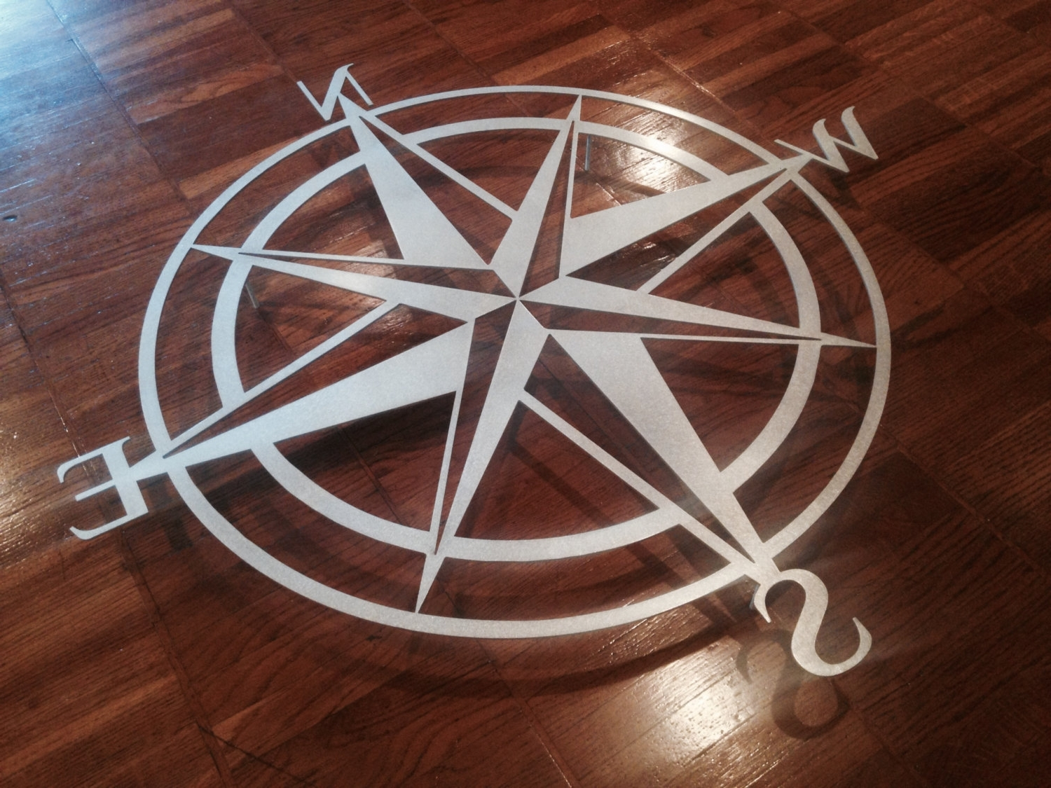Most Recent Large Metal Wall Art For Outdoor Regarding Garden Compass Wall Decor (View 8 of 15)