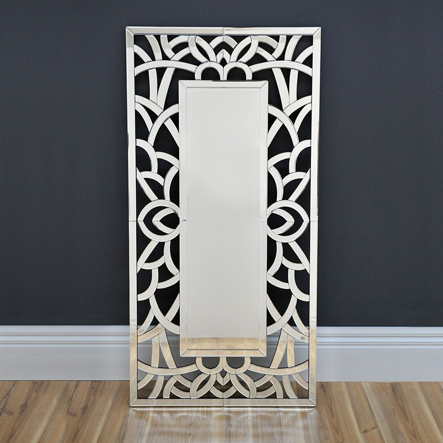 Most Recent Lavish Art Deco Mirror Modern Wall Mirror Floor Mirror Throughout Contemporary Mirror Wall Art (View 11 of 15)