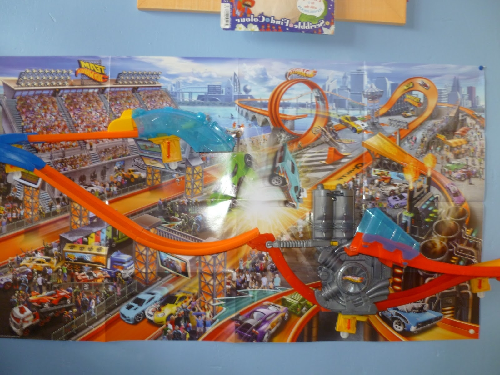 Most Recent Madhouse Family Reviews: Hot Wheels Wall Tracks Mid Air Madness Review With Regard To Hot Wheels Wall Art (View 15 of 15)