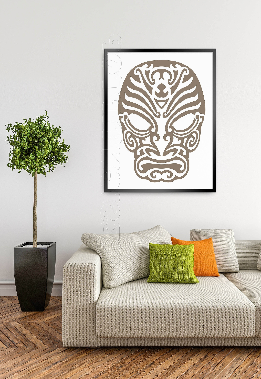 Most Recent Mask Svg, Polynesian Tattoo, Tshirt Design, Cuttable Svg, Vinyl Regarding Polynesian Wall Art (View 4 of 15)