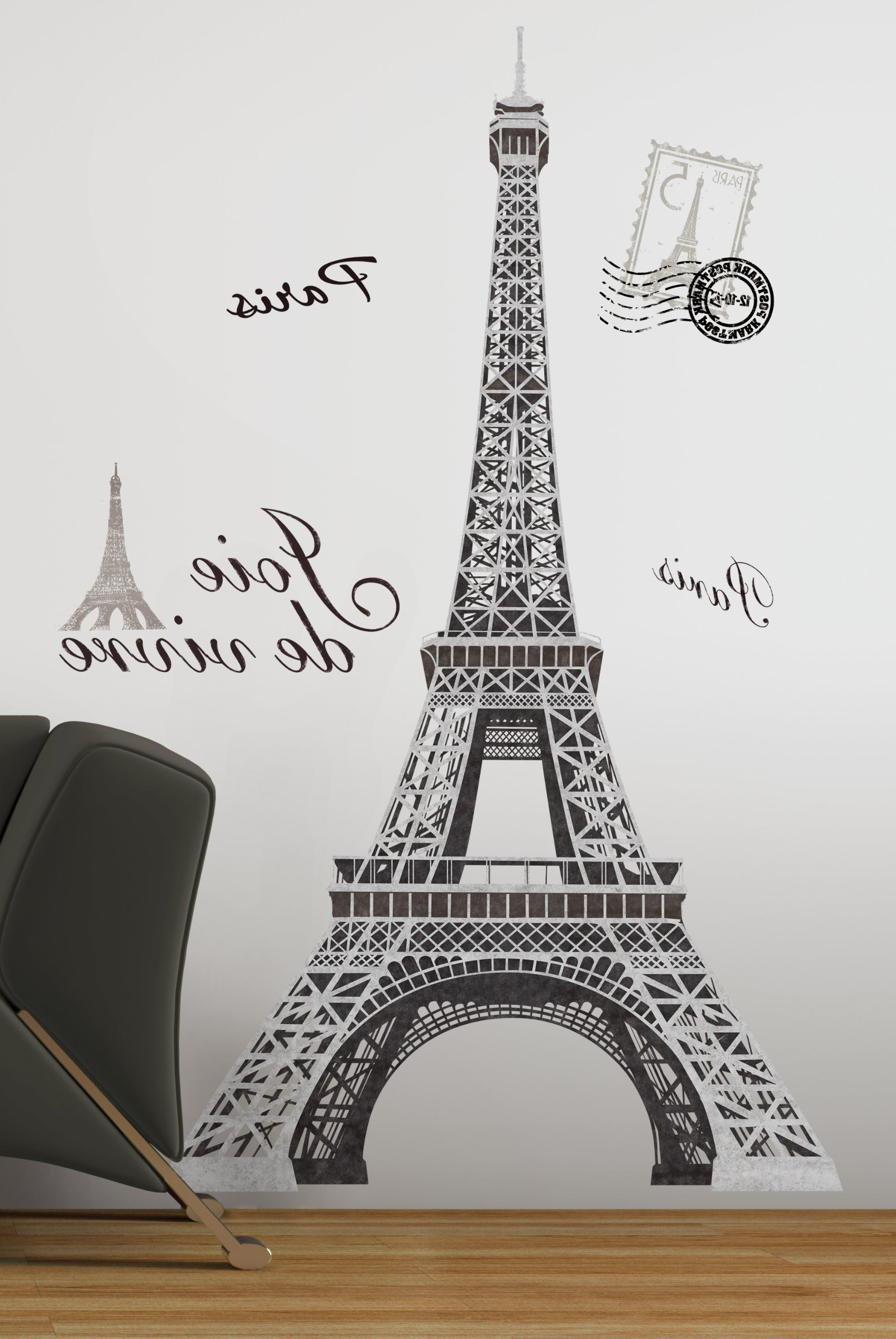 Most Recent Metal Eiffel Tower Wall Art Regarding Amazon : Hunnt® Large I Love Paris Eiffel Tower Sticker Decal (View 11 of 15)