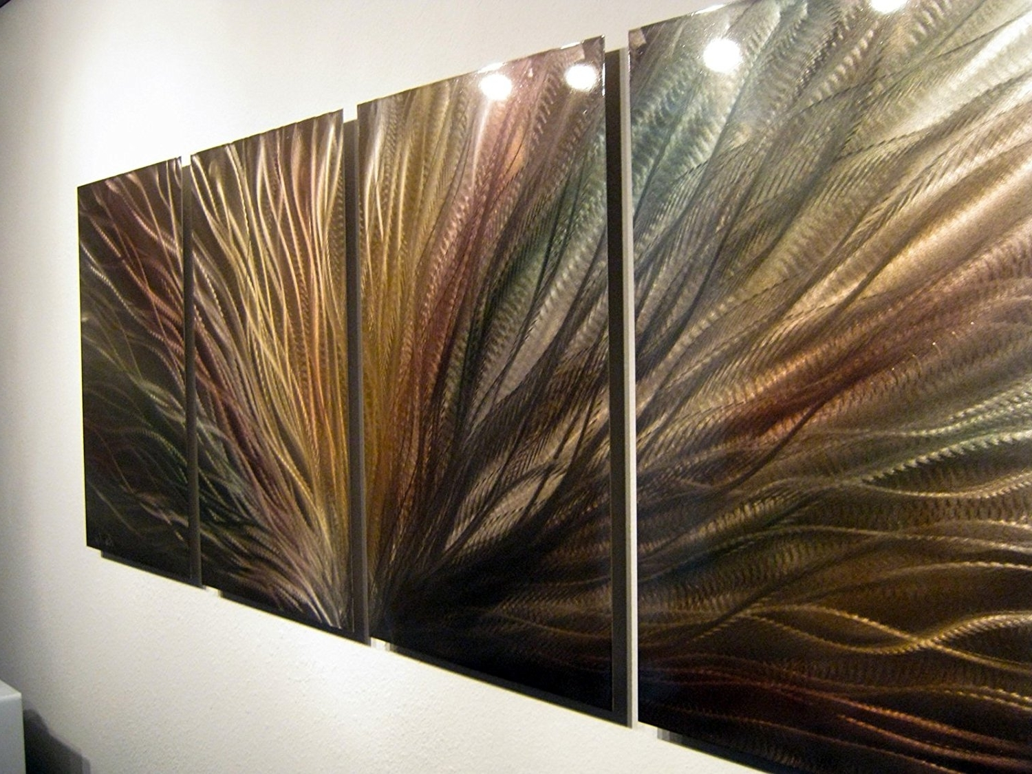 Most Recent Metal Wall Art In Amazon: Metal Wall Art, Modern Home Decor, Abstract Wall (View 9 of 15)