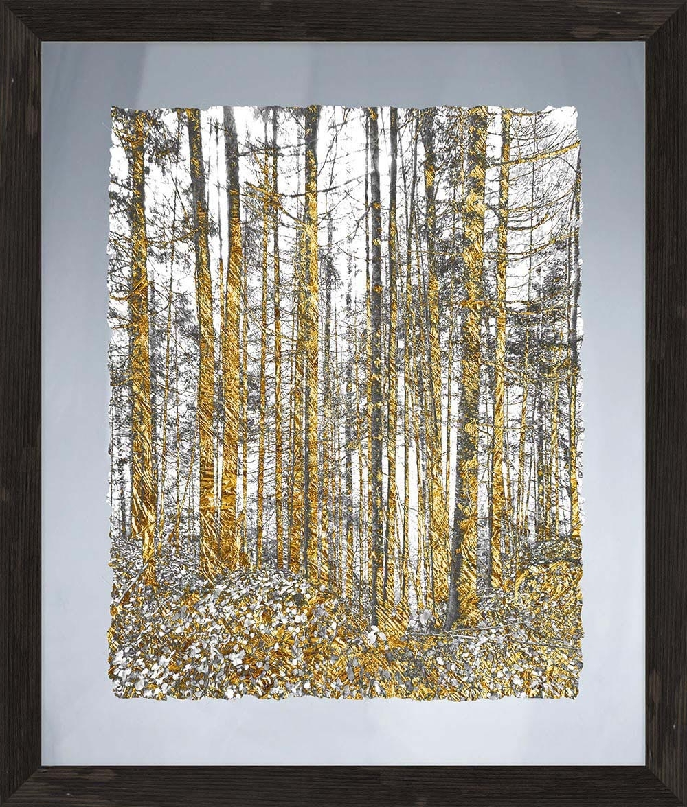 Most Recent Modern Glass Wall Art With Regard To Gold Tree Glass Wall Art Framed – Ptmimages (View 2 of 15)
