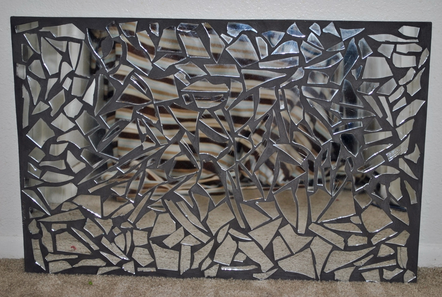 Most Recent Modern Mirrored Wall Art With Regard To Wall Art Designs: Mirrored Wall Art Mirrored Mosaic Wall Art Large (View 7 of 15)