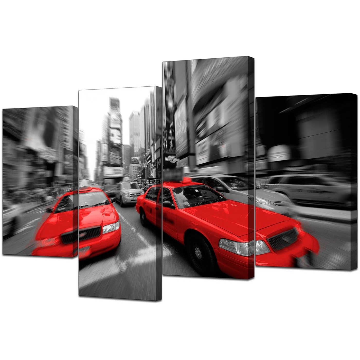 Most Recent New York Canvas Prints In Black White & Red – For Living Room Throughout Black And White New York Canvas Wall Art (View 11 of 15)