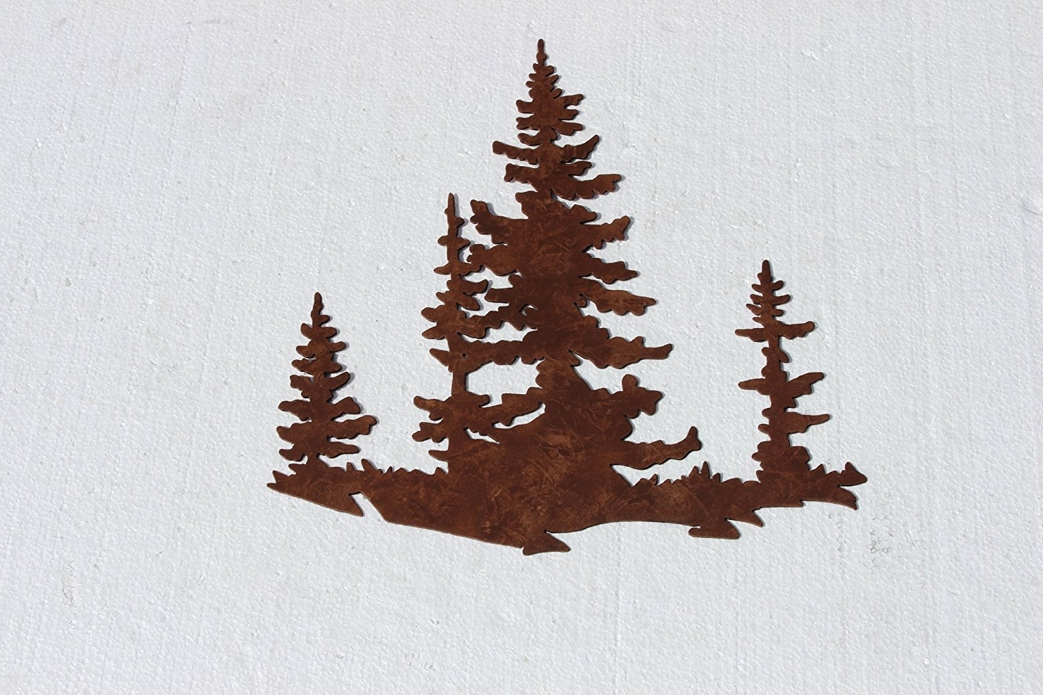Most Recent Pine Tree Wall Art With Regard To Amazon: Pine Tree Scene Metal Wall Art Country Rustic Decor (View 3 of 15)