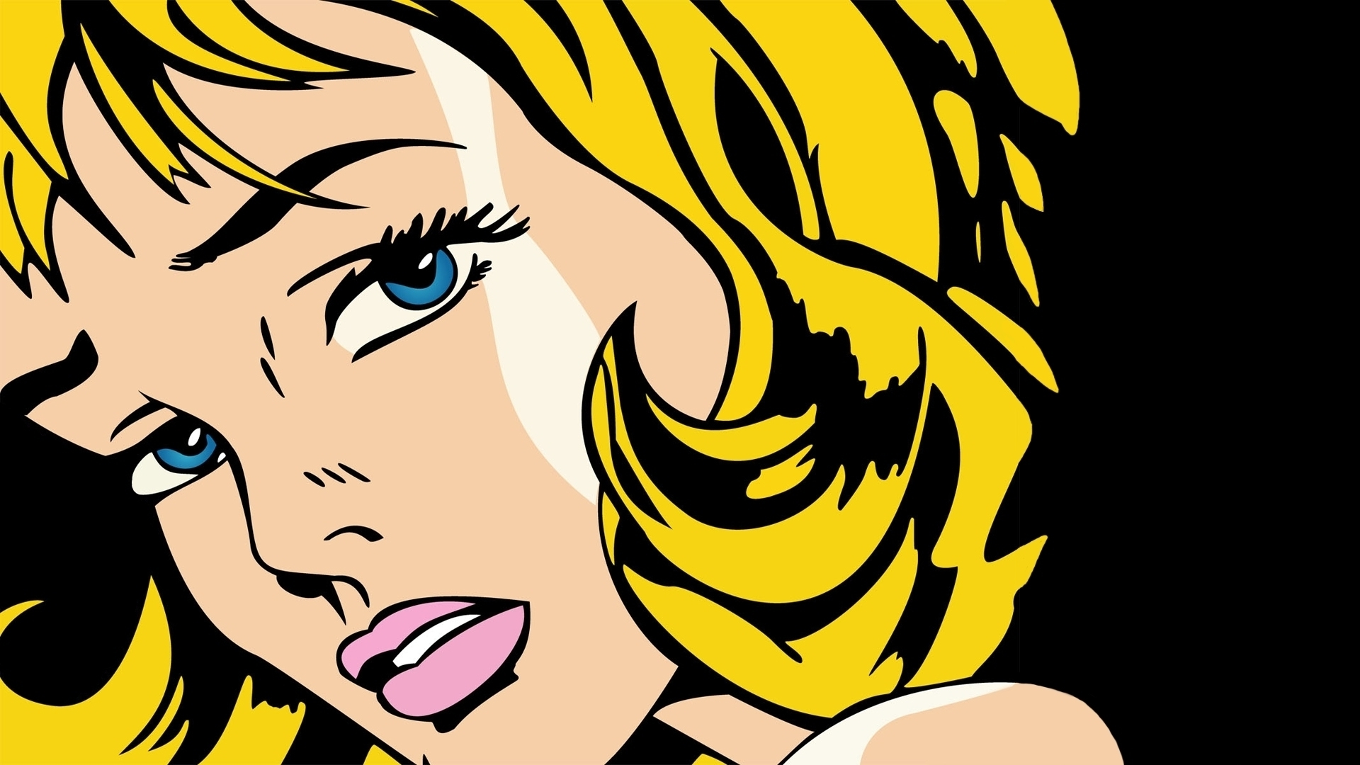 Most Recent Pop Art Wallpaper For Walls Pertaining To Beautifull Blue Eyes Interesting Sexy Wonderfuly Yellow Thickness (View 12 of 15)