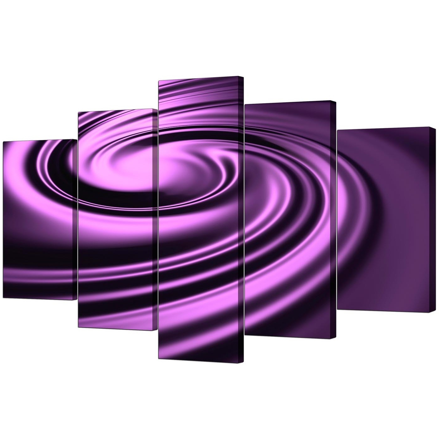 Most Recent Purple Canvas Wall Art Regarding Extra Large Purple Abstract Canvas Art – Set Of (View 15 of 15)