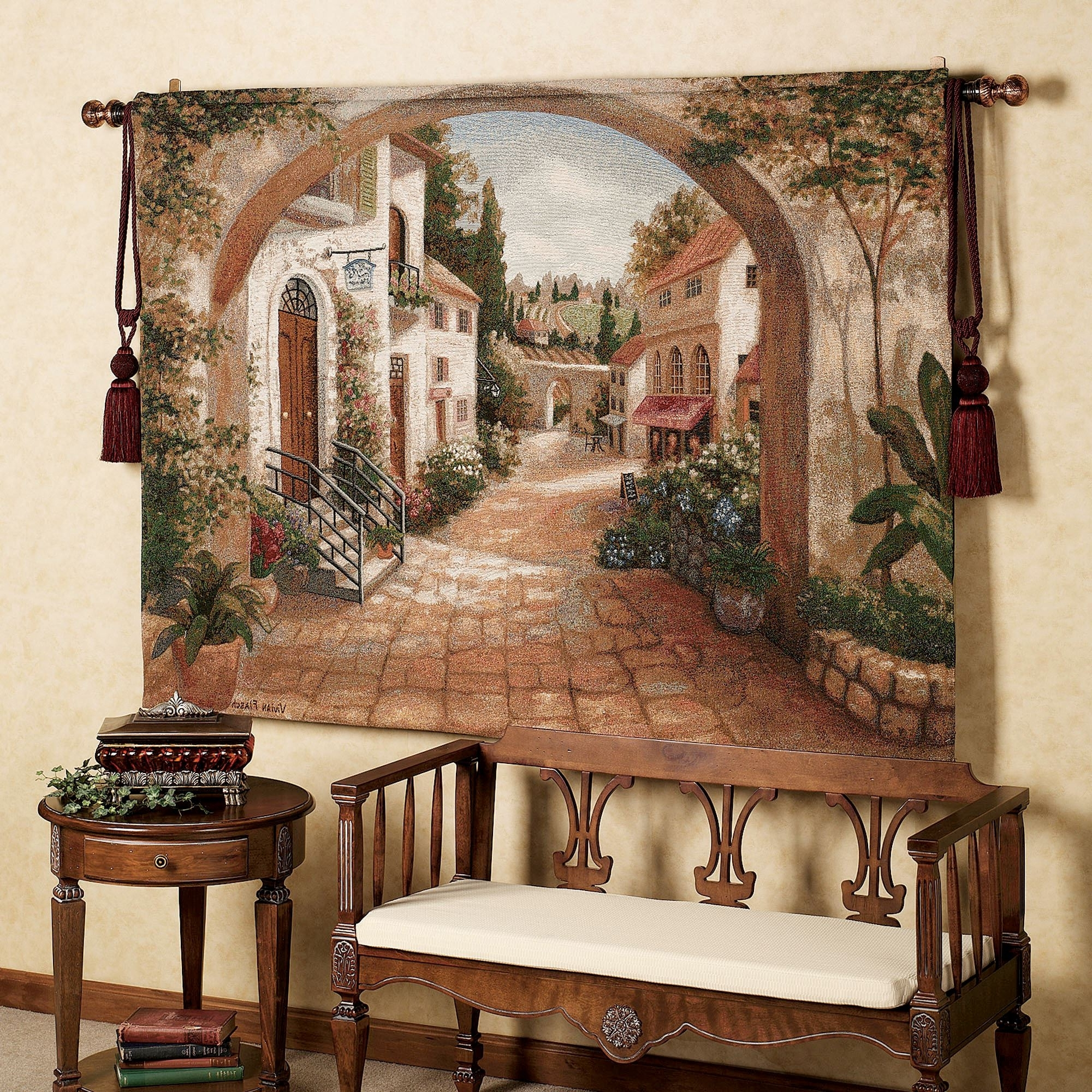 Most Recent Quaint Town Wall Tapestry Pertaining To Tuscany Wall Art (View 5 of 15)
