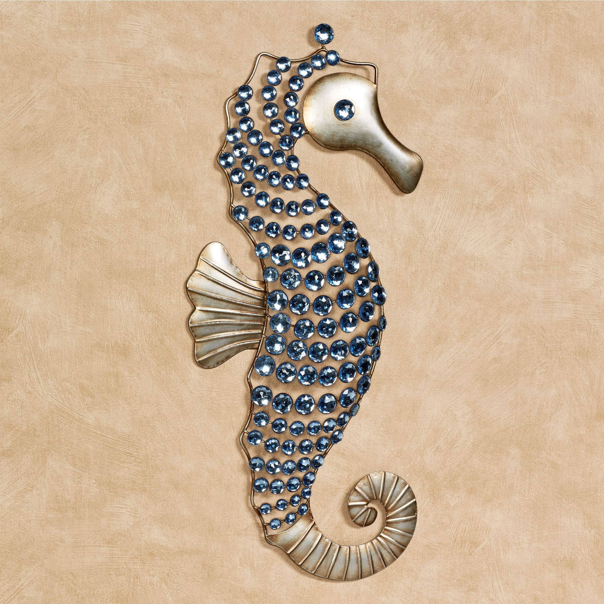 Most Recent Sea Horse Wall Art Throughout Seahorse Gems Metal Wall Art (View 5 of 15)