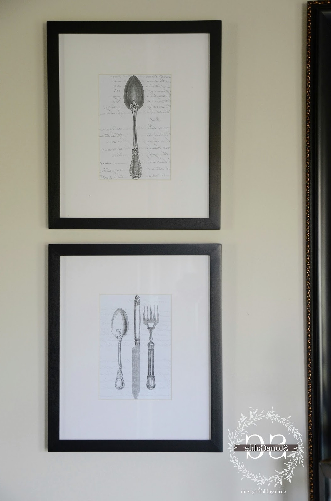 Most Recent Silverware Wall Art Regarding Vintage Silverware Wall Art Diy – Stonegable (View 2 of 15)
