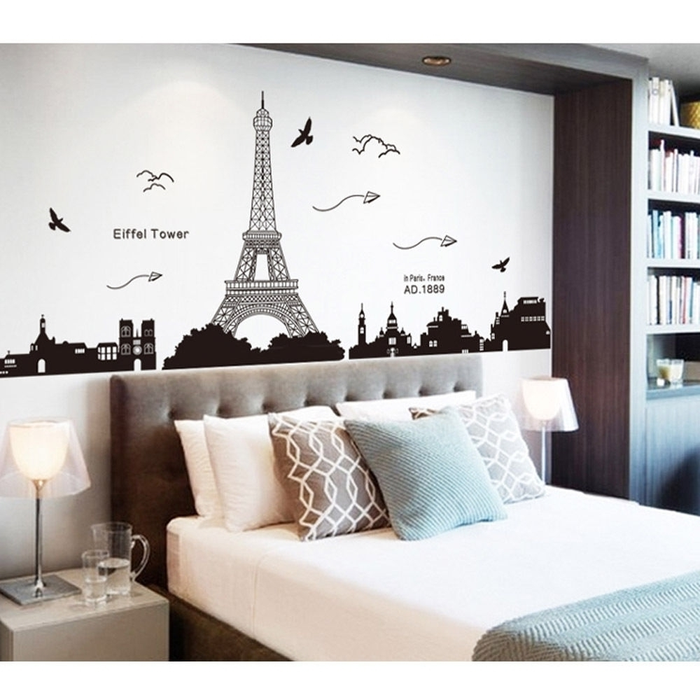 Most Recent Teens Room : Purple And Grey Paris Themed Teen Bedroom Room Ideas Within Paris Themed Wall Art (View 7 of 15)