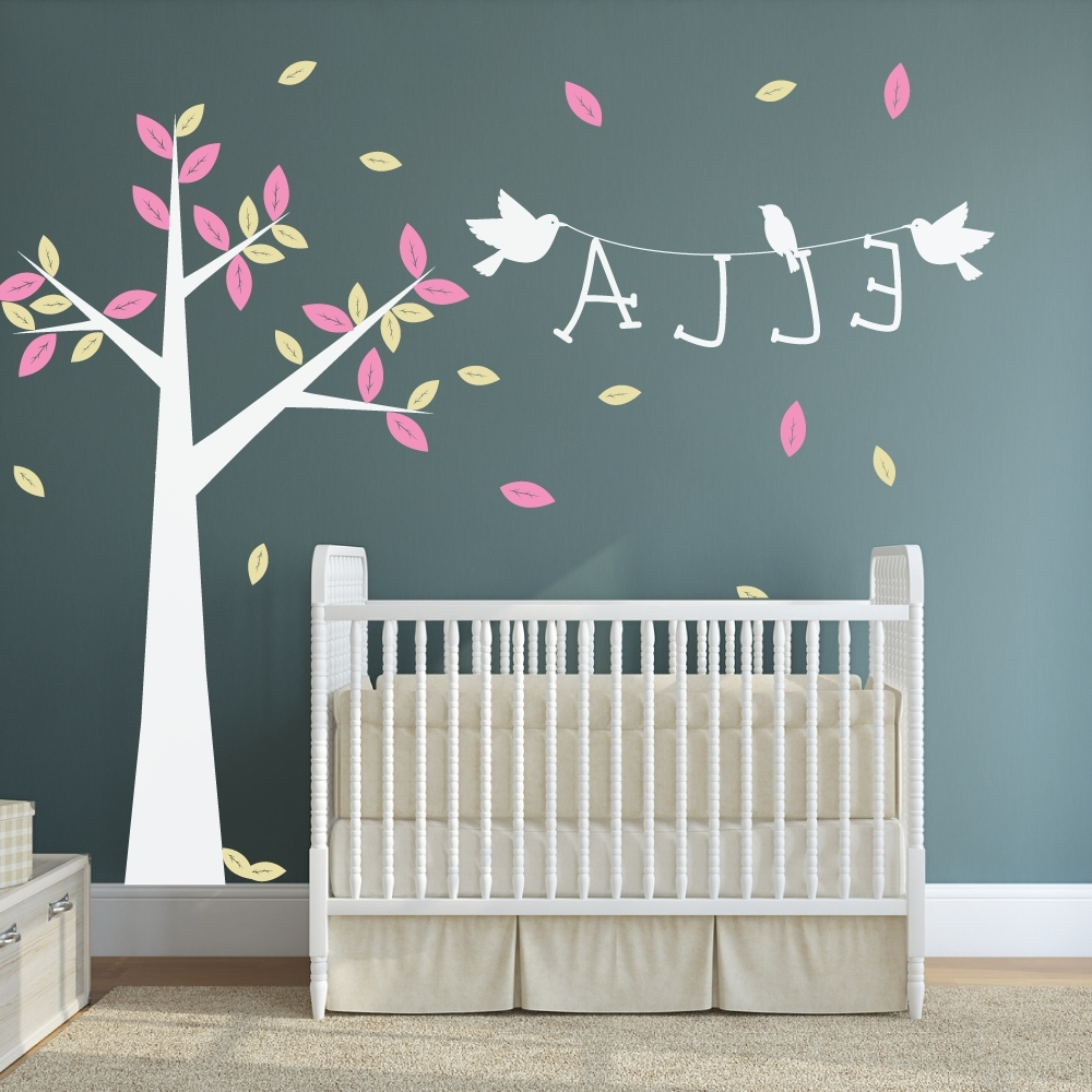 Most Recent Tempting Brown Elephant Yellow Giraffe Green Purple Tree Plus Wall Inside Personalized Baby Wall Art (View 6 of 15)