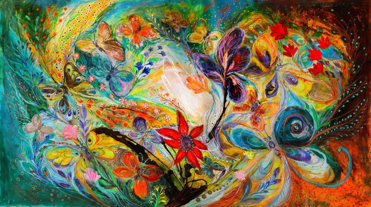 Most Recent The Dancing Butterflies (Elena Kotliarker) Intended For Abstract Expressionism Wall Art (View 9 of 15)